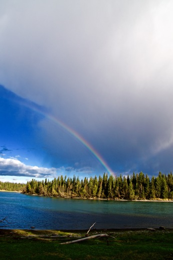 Rainbow over the Kenai River