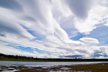 The spectacular sky above the Moose River.