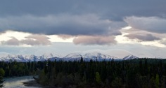 The Chugach Mountains at dusk