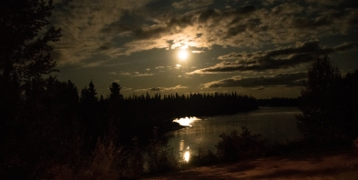 Night over the Moose River