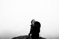 Greta in the clouds.