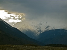 The Caucasus Mountains of the Svaneti region of Georgia