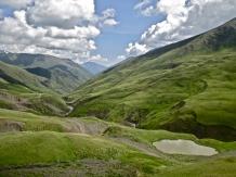 The mountainous region of Khevsureti, Georgia.