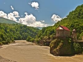 A church in the Adjara region of Georgia