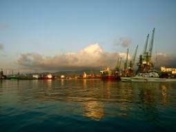 The Black Sea harbor of Batumi, Georgia