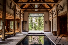 Eleven Experience's salt water pool at its Taylor River Lodge